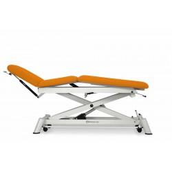Camilla eléctrica para osteopatía de 3 secciones con respaldo reclinable en negativo