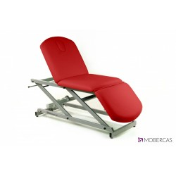 Camilla eléctrica tipo sillón de 3 secciones con portarrollos y tapón facial.